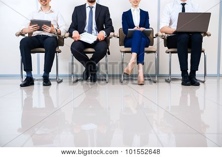 Concept for young modern business team