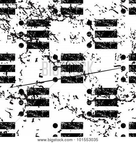 Dotted list pattern, grunge, monochrome
