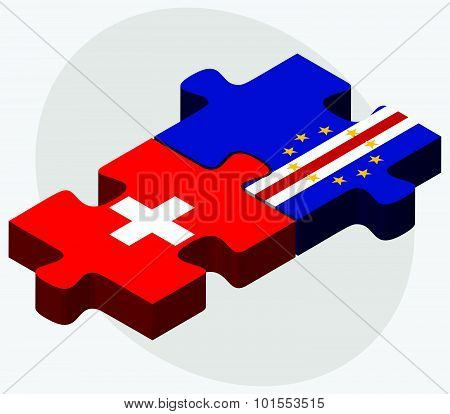 Switzerland And Cabo Verde Flags