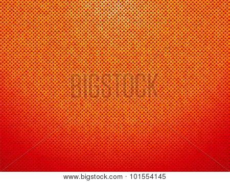 Dashed Orange Plastic Background With Vignette
