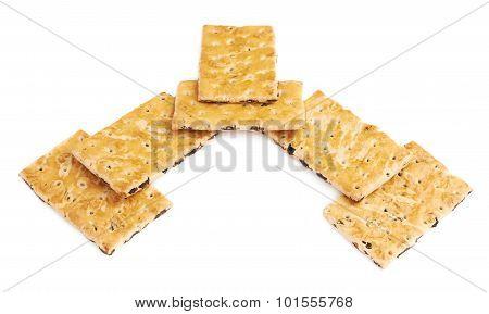 Pile of multiple raisin cookies