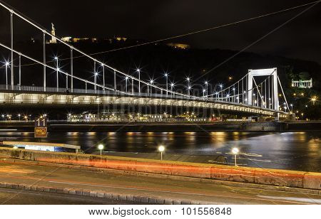 Elisabeth Bridge With The Citadel And Liberty Statue In Budapest