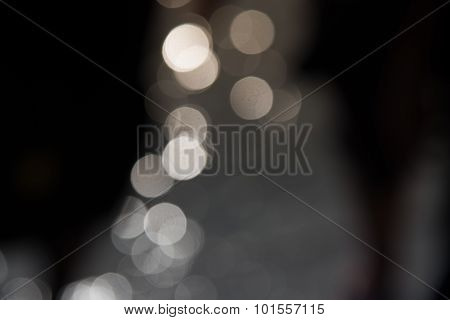 Blur Bokeh Of Sunlight Reflect From Water Dark Background