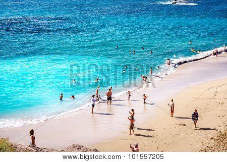 People N The Picturesque El Duque Beach