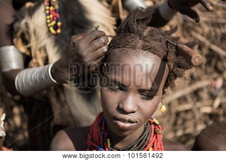 Unidentified Woman From Deesenach Tribe, Omo Valley, Ethiopia