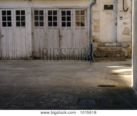 Old Garage In Caen France Normandy
