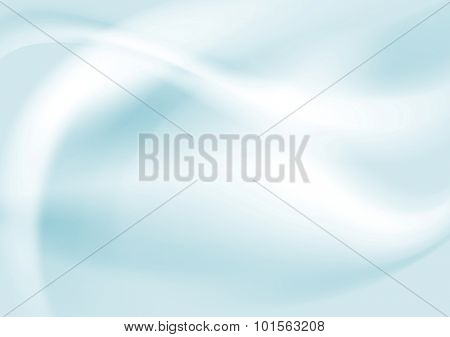 Light blue gradient abstract waves design. Vector background