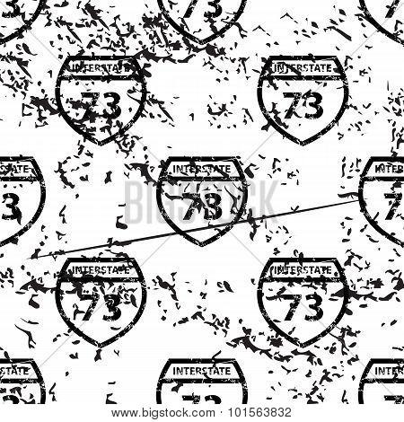 Interstate 73 pattern, grunge, monochrome