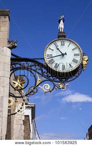 Clock At St. Martin Le Grand In York