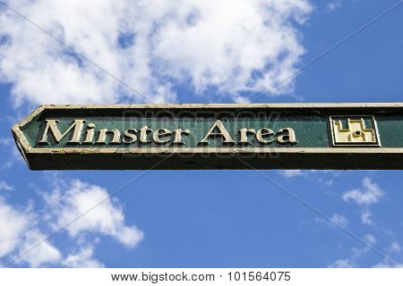 A Signpost For The Minster Area In York