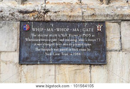 Whip-ma-whop-ma-gate In York