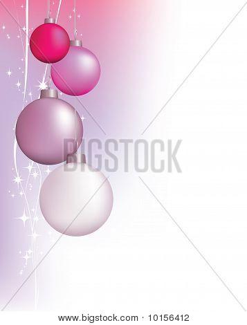 Rosa Weihnachten Hintergrund Design