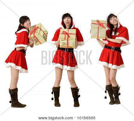 Christmas Girl With Gifts