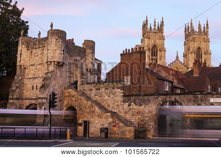 Bootham Bar And York Minster