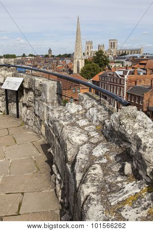 View From The Top Of Clifford's Tower In York