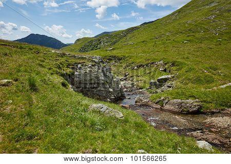 Mountain Trail Near The River