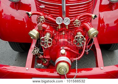 Front Of Antique Firefighters' Car