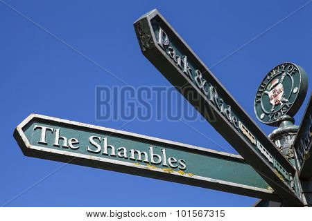 Signpost For The Shambles