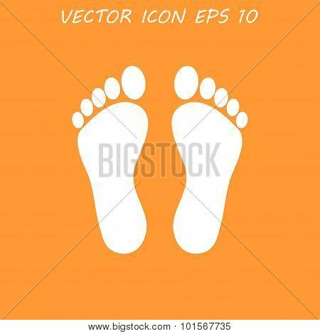 Footprint - Vector Icon