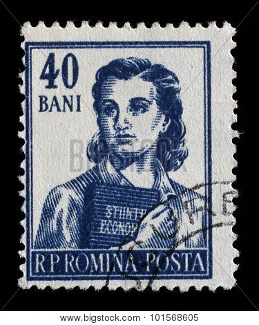 ROMANIA - CIRCA 1955: A stamp printed in Romania from the series Professions, circa 1955.