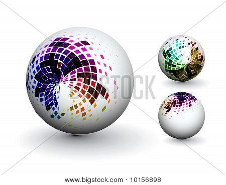 esfera 3d abstrata