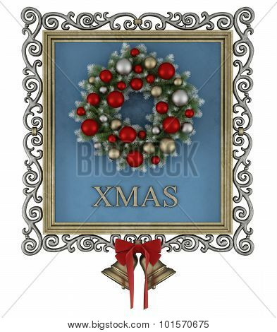 Christmas Frame With Wreath