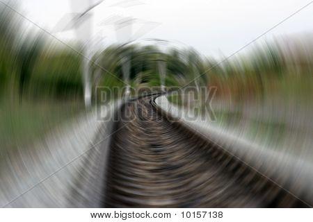 Railway tracks leading into the distance