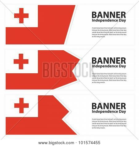 Tonga Flag Banners Collection Independence Day