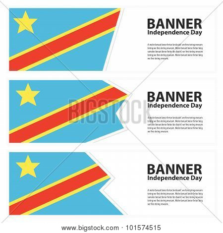 The Democratic Republic Of The Congo Flag Banners Collection Independence Day