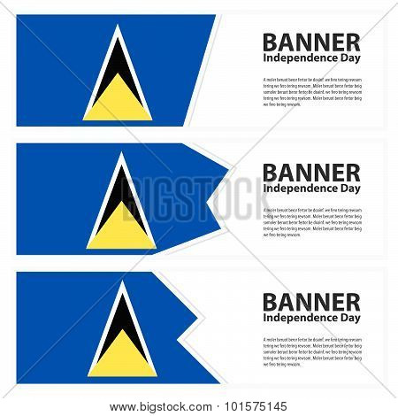 St Lucia Flag Banners Collection Independence Day