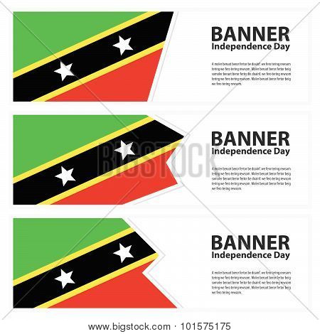 St Kitts & Nevis Flag Banners Collection Independence Day