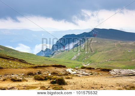 Bucegi mountains in the summer