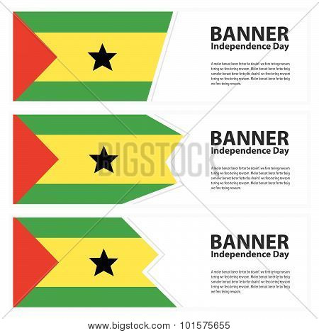 Sao Tome And Principe Flag Banners Collection Independence Day