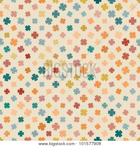 Abstract Pattern Clover Pale