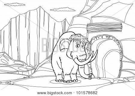 Mammoth Near Cave