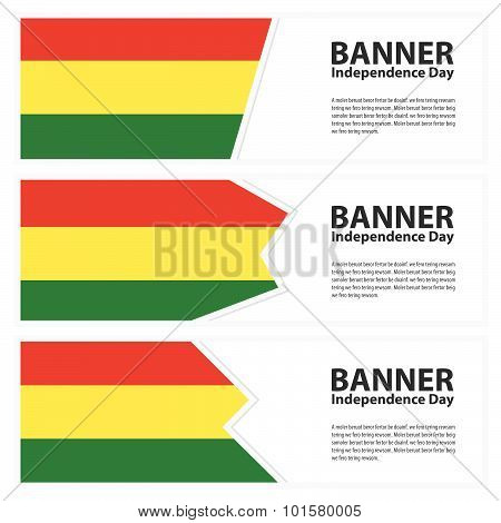 Bolivia  Flag Banners Collection Independence Day