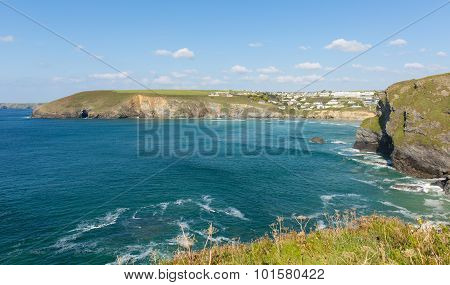 Mawgan Porth coast north Cornwall England near Newquay and south of Porthcothan and Treyarnon on a s