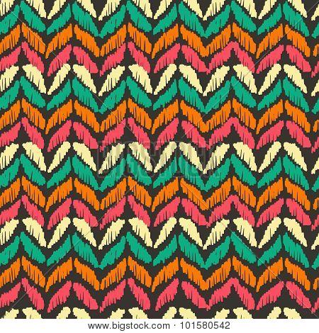 Boho Seamless Pattern Vintage Colorful Background