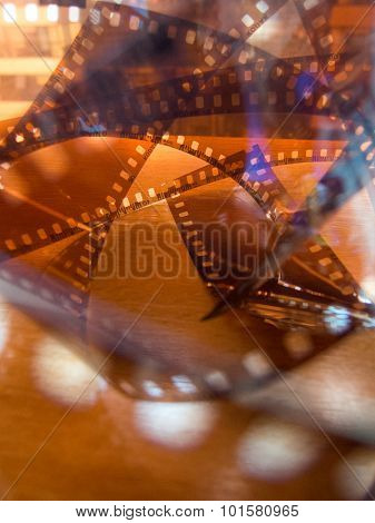 abstract photo twisted photo film