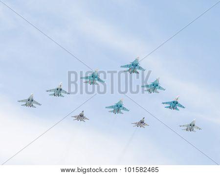 Su-34, Su-27 And Mig-29