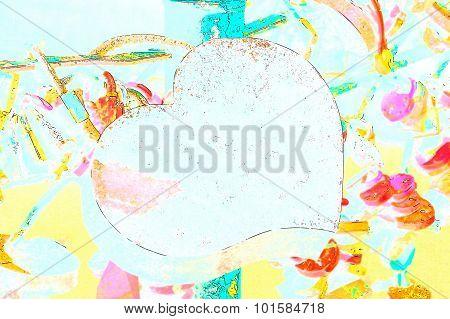 Color Heart Shape Lock Of Romance Love Taken Closeup.