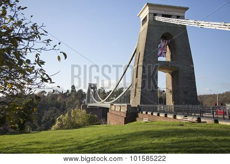 Clifton Suspension Bridge On A Sunny Winter Day