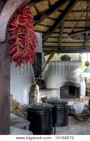Traditional Hungarian Rural Kitchen