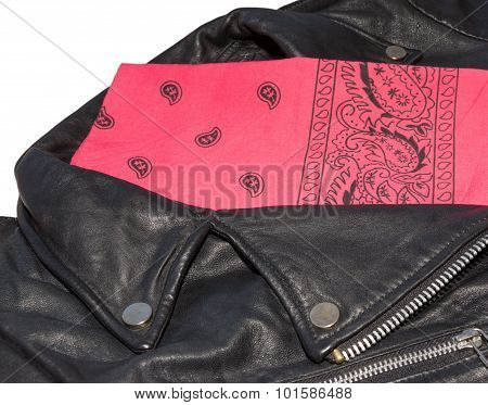 Jacket And Red Bandana