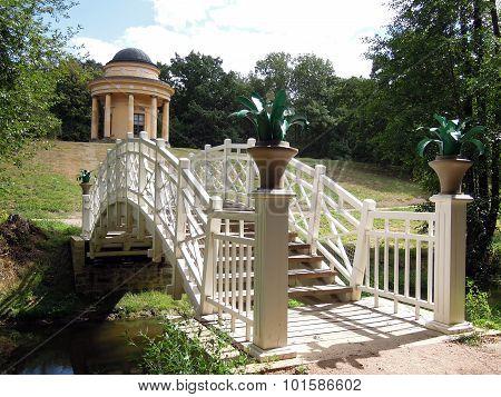 Footbridge And Bower