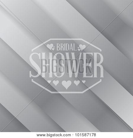 Bridal Shower Sign Over A Metallic Background