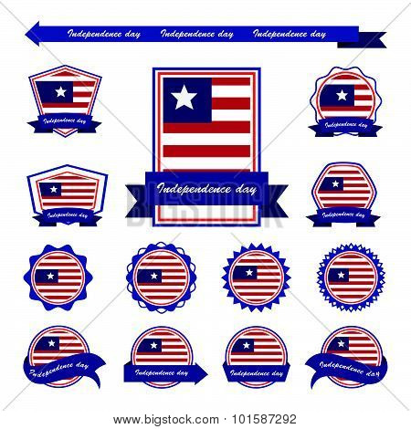 Liberia  Independence Day Flags Infographic Design