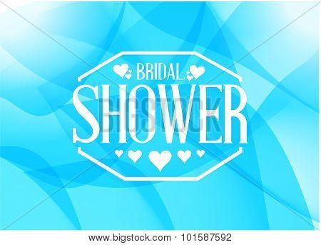 Bridal Shower Sign Illustration Design