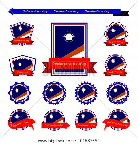 Marshall Islands Independence Day Flags Infographic Design