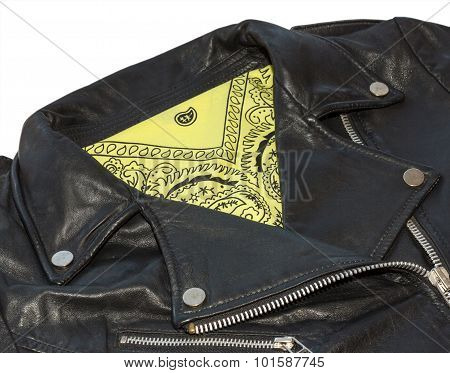 Rocker Jacket And Bandana Yellow